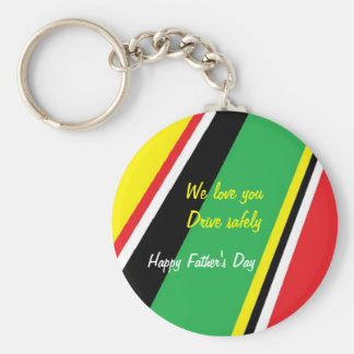 Father's day keychains-drive safely basic round button keychain