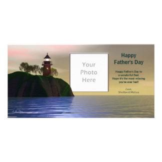 Father's Day Lighthouse Custom Photo Card