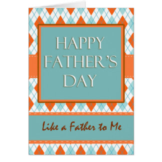 Father's Day, Like a Father to Me, Argyle Design Card