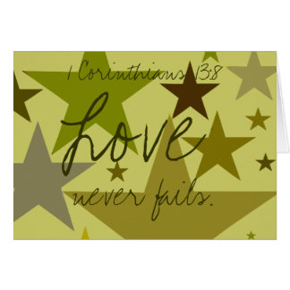 Father's Day-Love Never Fails 1 Cor. 13:8 - Card