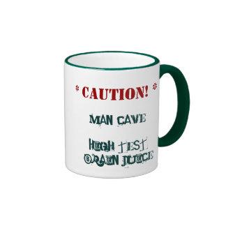 Father's Day Mug: Man Cave - Ringer Mug