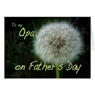Father's Day Opa dandelion wish for Card