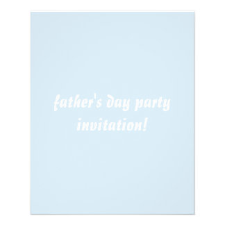 "father's day party invitation flyer 4.5""x5.6"" flye"