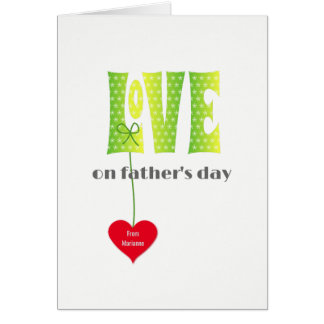 Fathers Day Personalized name LOVE card