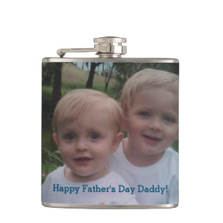 Father's Day Photo Gift Drinking Flask