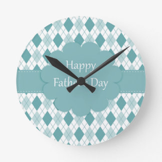 Fathers Day plaid Clock