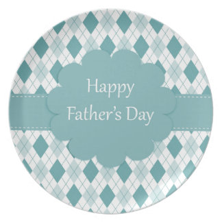 Fathers Day plaid Plates
