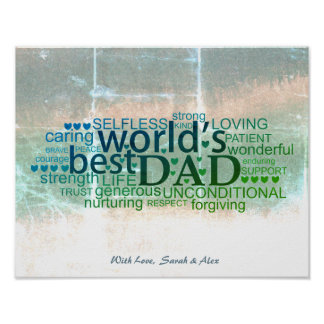 Fathers day poster, Dads Birthday Poster Art