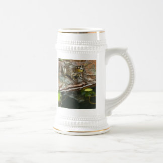 Father's Day Prince Frog Photo with Text Beer Stein
