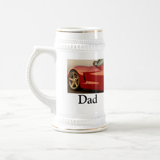 Father's Day Red Corvette 18 Oz Beer Stein