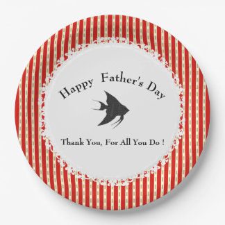 Father's-Day-Red-Gold-Celebration-Template Paper Plate