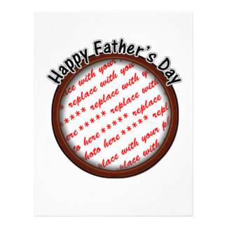 Father's Day Round Brown Photo Frame Flyer