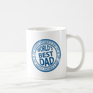 Father's day rubber stamp effect coffee mug