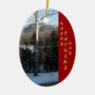 Father's Day Scenic Keepsake Ceramic Oval Ornament