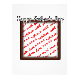 Father's Day Square Brown Photo Frame Flyer Design