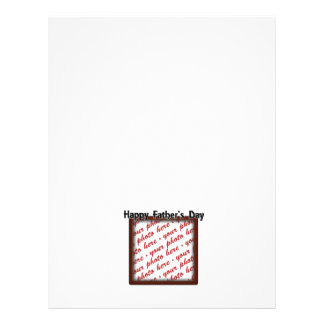 Father's Day Square Brown Photo Frame Flyers