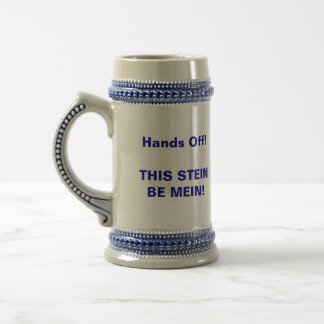 Father's Day Stein: Hands Off My Brewski - 18 Oz Beer Stein