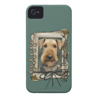 Fathers Day - Stone Paws - Airedale iPhone 4 Case