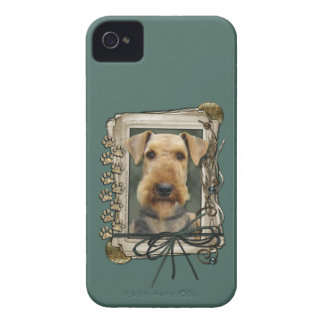 Fathers Day - Stone Paws - Airedale iPhone 4 Case-Mate Case