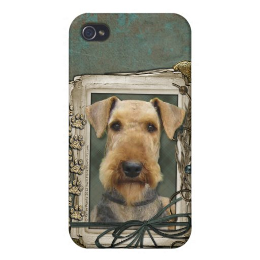 Fathers Day - Stone Paws - Airedale iPhone 4/4S Cases