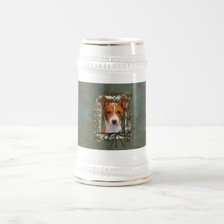 Fathers Day - Stone Paws - Basenji 18 Oz Beer Stein
