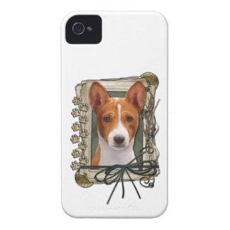 Fathers Day - Stone Paws - Basenji iPhone 4 Case