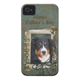 Fathers Day - Stone Paws - Bernese Mountain Dog iPhone 4 Cover