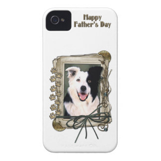 Fathers Day - Stone Paws - Border Collie iPhone 4 Cover