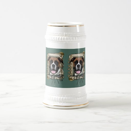 Fathers Day - Stone Paws - Boxer - Vindy Coffee Mug