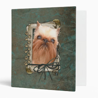 Fathers Day - Stone Paws - Brussels Griffon Vinyl Binders