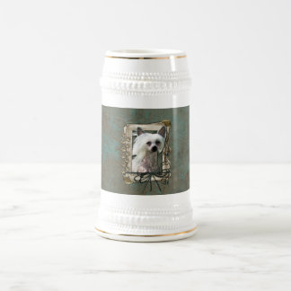 Fathers Day - Stone Paws - Chinese Crested 18 Oz Beer Stein