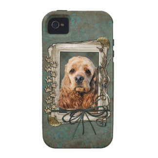 Fathers Day - Stone Paws - Cocker Spaniel Case-Mate iPhone 4 Cases