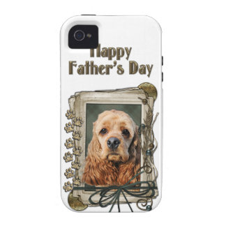 Fathers Day - Stone Paws - Cocker Spaniel Vibe iPhone 4 Covers