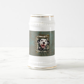Fathers Day - Stone Paws - Dalmatian 18 Oz Beer Stein
