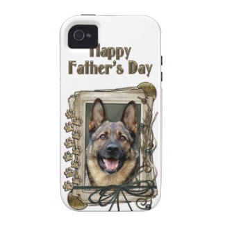 Fathers Day - Stone Paws - German Shepherd iPhone 4/4S Cases