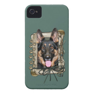 Fathers Day - Stone Paws - German Shepherd - Kuno iPhone 4 Case-Mate Case