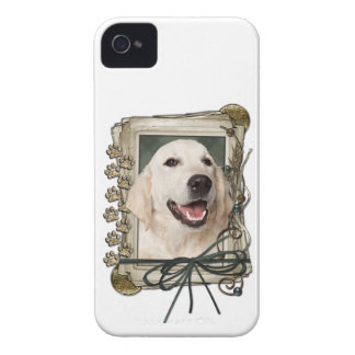 Fathers Day - Stone Paws - Golden Retriever Tebow Case-Mate iPhone 4 Case