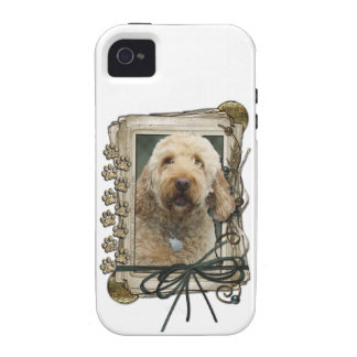 Fathers Day - Stone Paws - GoldenDoodle iPhone 4 Covers