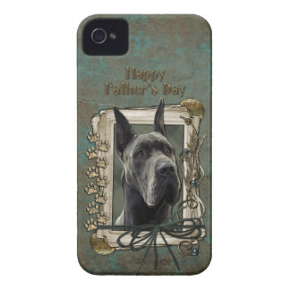 Fathers Day - Stone Paws - Great Dane - Grey iPhone 4 Covers