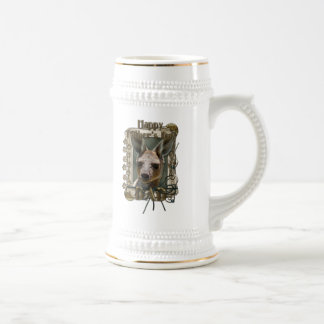 Fathers Day - Stone Paws - Kangaroo Beer Steins