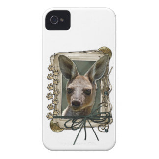 Fathers Day - Stone Paws - Kangaroo Case-Mate iPhone 4 Cases