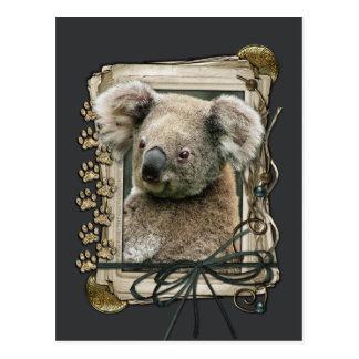 Fathers Day - Stone Paws - Koala Postcard