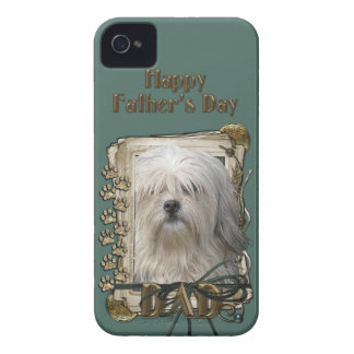 Fathers Day - Stone Paws - Lowchen iPhone 4 Cover