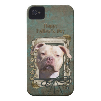 Fathers Day - Stone Paws - Pitbull - Jersey Girl iPhone 4 Case
