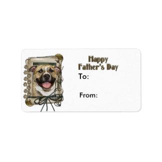 Fathers Day - Stone Paws - Pitbull - Tigger