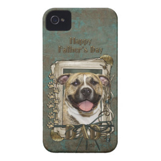 Fathers Day - Stone Paws - Pitbull - Tigger iPhone 4 Case
