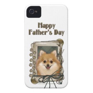 Fathers Day - Stone Paws - Pomeranian iPhone 4 Cover