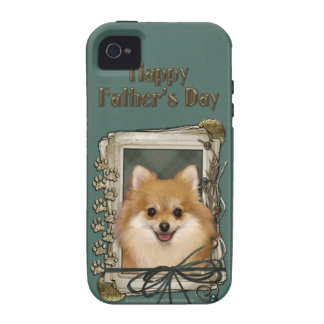 Fathers Day - Stone Paws - Pomeranian iPhone 4/4S Cover