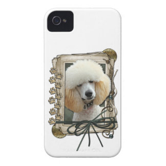 Fathers Day - Stone Paws - Poodle - Apricot iPhone 4 Covers