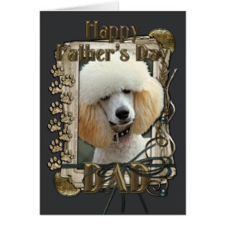 Fathers Day - Stone Paws - Poodle - Apricot Greeting Card